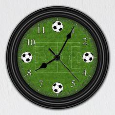 Soccer Field  Unique Wall Clock  Handmade Gift  by ClocksGalore