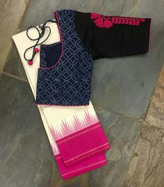 How to Select the Best Modern Saree for You? Simple Blouse Designs, Stylish Blouse Design, Blouse Neck Designs, Cotton Saree Blouse Designs, Designer Blouse Patterns, Blouse Models, Look Fashion, Sarees, Darjeeling