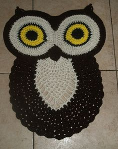 Hey, I found this really awesome Etsy listing at https://www.etsy.com/listing/152116621/crochet-owl-rug-pattern
