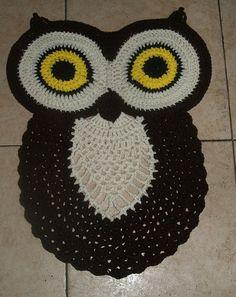 Buho alfombra patrón de ganchillo por vjf25 en Etsy