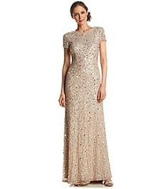Adrianna Papell® Sequin And Beaded Gown
