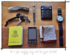 The Loadout: My Perfect Everyday Carry - Gear Patrol.  Lots of good pieces and links to it all.