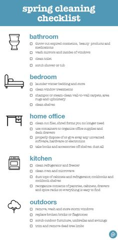 Spring Cleaning Checklist A Thorough Spring Cleaning For Your