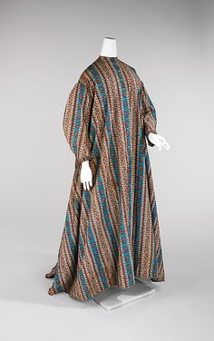 Dressing Gown    Date:      1865–70  Culture:      American  Medium:      cotton  Dimensions:      Length at CB: 58 in.