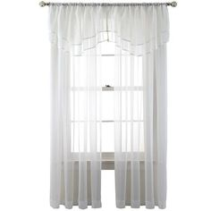 voile window treatments jcpenney