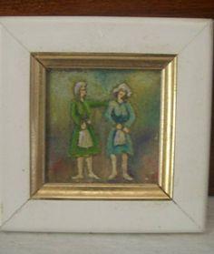 Óleo sobre tela, pintado a mão. Mini quadros feitos na medida de 4cm x 4cm (tamanho tela) e 7cm x 7 cm (com moldura) Quadros decorativos.  Veja mais fotos: http://www.flickr.com/photos/frediambrogi/ R$ 30,00