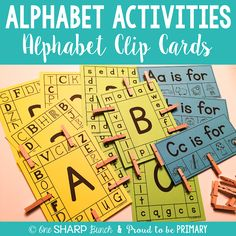 So many great ideas for DIFFERENTIATED alphabet activities... perfect for small groups!