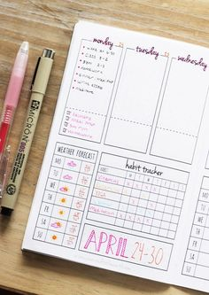 This is a printable bullet journal for those of us that love the idea of bullet journaling but don't have the time to constantly draw weekly spreads! #crafts_organization_bullet_journal