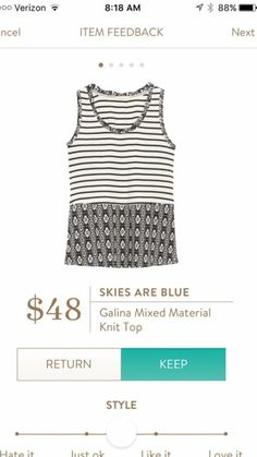Skies Are Blue Galina Mixed Material Knit Top https://www.stitchfix.com/referral/3709326