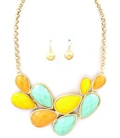 Pastel color necklace set sooo cute for the season
