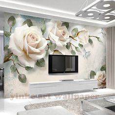 Floral Wallpaper Cream Rose Wall Mural Look Photo Nordic .- Floral Wallpaper Cream Rose Wall Mural Look Photo Nordic Flower Wall Print Living Room Bedroom Entryway Cafe Design Floral Wallpaper Cream Rose Wall Mural Photo Nordic Flower 3d Wallpaper Mural, 3d Wall Murals, Rose Wallpaper, Modern Wallpaper, Photo Wallpaper, Cheap Wallpaper, Paper Wallpaper, Custom Wallpaper, Wall Painting Flowers