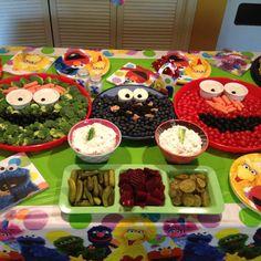 Sesame Street Birthday party food.
