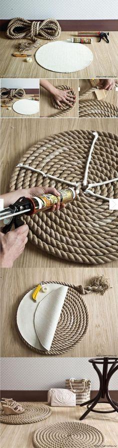 Alfombra DIY con cuerda / Via marrietta.ru
