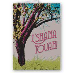 Apple Tree L'shana Tovah card by eydesigns perfect for rosh hashanah