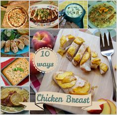 This lean protein is incredibly versatile and always a crowd pleaser! Today I have assembled 10 of my favorite ways to enjoy chicken breast at mealtime. Healthy Diet Recipes, Cooking Recipes, Ham Recipes, Recipies, Turkey Dishes, Pork Dishes, Italian Baked Chicken, Ways To Cook Chicken, Yummy Chicken Recipes