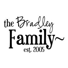 bradley family name design wall decal