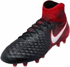 b1d0c9aaa42c Nike Magista Obra II FG – Black/Red Best Soccer Shoes, Football Shoes,