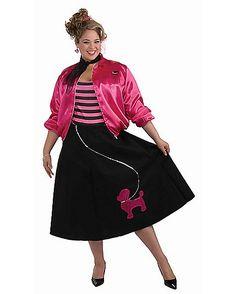 Adult Poodle Skirt Set Plus Size Costume - Spirithalloween.com