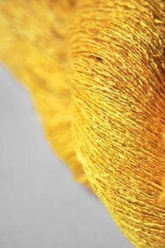 Too much turmeric powder OOAK  Tussah Silk Yarn Lace by DyeForYarn, €26.50