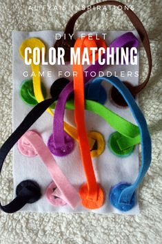 "Magnetic felt Color matching game for toddlers inspired by a very lively and engaging game ""Twister"" Matching Games For Toddlers, Summer Activities For Toddlers, Water Games For Kids, Preschool Learning Activities, Color Activities, Toddler Learning, Infant Activities, Family Activities, Time Activities"