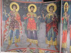 Фрески. Греция (альбом) | VK Saint George, Byzantine, Saints, Painting, 3, Tutorials, Interiors, Painting Art, Paintings