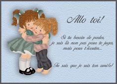 Dear Best Friend, Messages, True Friends, Smurfs, Teddy Bear, Humor, Animals, Sentiments, Bon Weekend