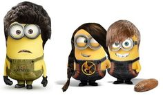 i just laughed so hard my two favorite things ; the hunger games & minions ♥️ Hunger Games Memes, Hunger Games Trilogy, Cute Minions, Minions Minions, Minion Stuff, Evil Minions, Minions Quotes, Funny Minion, Katniss And Peeta