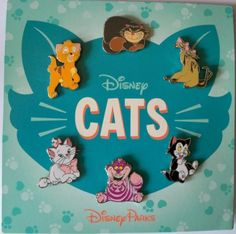 "Walt Disney World Park Trading Pin ""Cats"" Set - 6 Total Trade Pins - Brand Disney Pin Trading, Figaro Disney, Broches Disney, Disney Cute, Funny Disney, Disney Pins Sets, Disney Parque, Disney Pin Collections, Live Action"