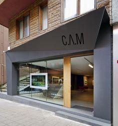 CAM Art Gallery Gate Design, Facade Design, Door Design, Exterior Design, Retail Facade, Shop Facade, Boutique Interior, Storefront Signs, Deco Restaurant