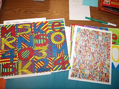 """Maybe each """"block"""" can demonstrate knowledge of color - mixing primaries & secondaries, complementaries, monochromatic, analogous colors, neutrals, tints, shades, etc."""