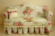 One of my 1:12th sofa's I sold on Etsy featured on a blog.