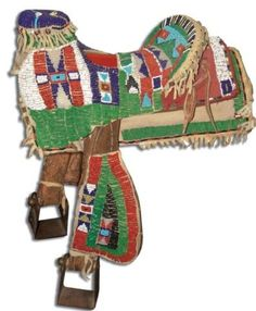Pony Beaded Child's Saddle Want this for decor in kids room! Native American Horses, Native American Artwork, Native American Artifacts, American Indian Art, Native American History, Indian Beadwork, Native Beadwork, Native American Beadwork, Native Indian