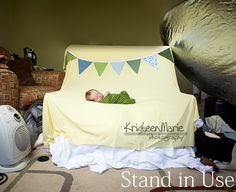 Newborn Photography Backdrop Stand - Works with any size beanbag - Lightweight & great for on-locaton newborn photography or studio set-ups. $59.99, via Etsy.