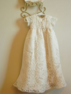 Christening Gown, Baptism Gown made from your Wedding dress, Bespoke Baby Christening Dress, Baptism Gown, Baby Gown, Old Wedding Dresses, Wedding Dress Crafts, Wedding Gowns, Baptism Outfit, Baptism Clothes, Blessing Dress