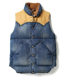 【PRE ORDER】ROCKY MOUNTAIN FEATHERBED / DENIM DOWN VEST