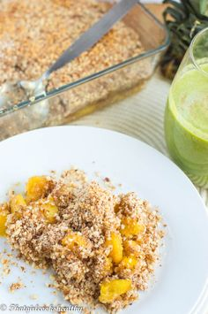 Pineapple mango crisp (Crumble) - paleo, gluten free and vegan.