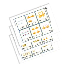 Clip Cards - Numbers of the serie Princesses. Numbers, Notebook, Bullet Journal, Printables, Cards, Crowns, Princesses, Print Templates, Princess