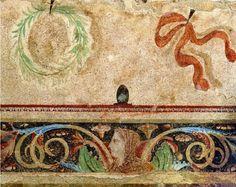 Ταφικός τύμβος νεκροταφείου Αίνειας, λεπτομέρεια (350-325 π.Χ.). Αρχαιολογικό Μουσείο Θεσσαλονίκης. Archaeology, Wordpress, Rugs, Painting, Home Decor, Farmhouse Rugs, Decoration Home, Room Decor, Painting Art