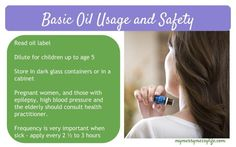 Basic Essential Oil Usage and Safety Guidelines