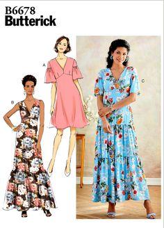 Butterick Patterns 5999 WMN XXL// 1X// 2X// 3X// 4X// 5X// 6X Sewing Patterns Multi-Color