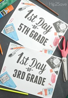 FREE First Day of School Printable Signs - Hip2Save