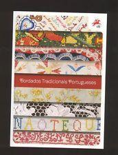 BROCHURE stamps 2 SOUVENIR SHEETS PORTUGAL EMBROIDERIES MINHO AZORES MADEIRA etc