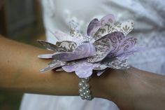 Design Your Own Wedding Pinwheel Wrist Corsages (Peony with Layer) @Jennifer Milsaps L Hylemon