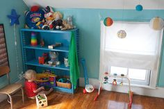 """We've recently transitioned Knox's room from his """"baby"""" room to a more toddler friendly space. The other day my husband commented that Knox's room is """"The Room of Yes"""" for him. It's a place where we never have to tell him, """"No, no--don't touch that!"""""""