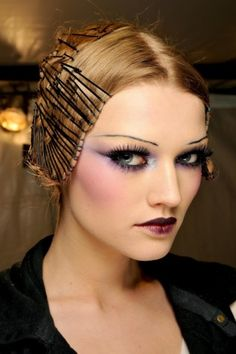 John Galliano 1920s inspired make-up