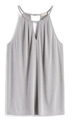 Stitch Fix spring/summer 2017. Grey braided neckline halter knit top.  Ask your stylist for this top or something similar. Click on the picture to fill out your style profile. Enjoy! #sponsored