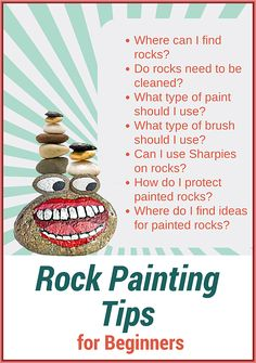 Rock Painting Tips for Beginners - Where to Find Rocks - Best Brushes - Paints - How to Seal and Protect