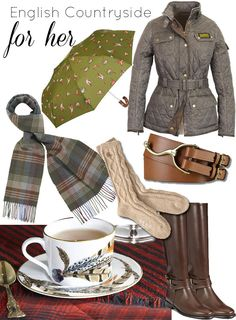 English Countryside style for fall Have to dress warm when looking for Hounds in Baskerville!