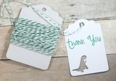 Dinosaur Party Tags Set of 20  Custom Party by TheBabyShowerMedley