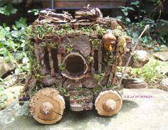 Garden Fairy Houses Twigs | ... Fairie Furniture Fairy House Fae Garden Cart Twig Furniture on Etsy